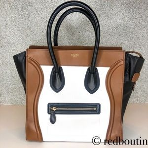 Celine Paris TriColor mini luggage tote bag